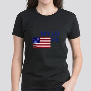 MY LOVE AMERICA Women's Dark T-Shirt
