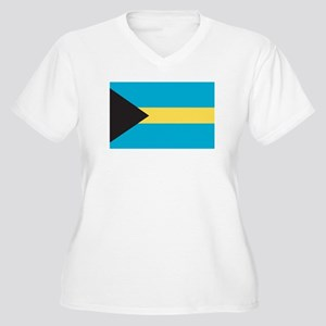 BAHAMAS Womes Plus-Size V-Neck T-Shirt
