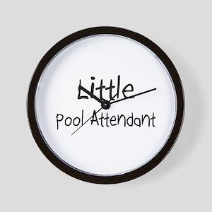 Little Pool Attendant Wall Clock