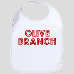 Retro Olive Branch (Red) Bib