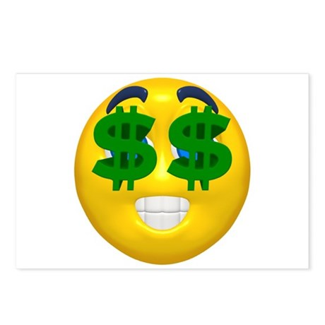Dollar Emoticon Postcards (Package of 8)