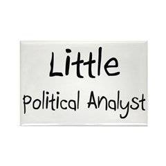 Little Political Analyst Rectangle Magnet (10 pack