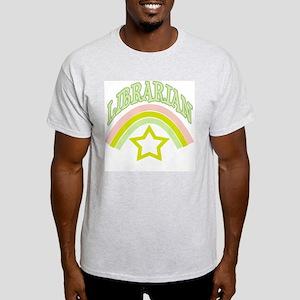 Librarian Star & Rainbow Ash Grey T-Shirt