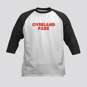 Retro Overland Park (Red) Kids Baseball Jersey