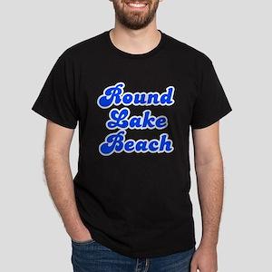Retro Round Lake B.. (Blue) Dark T-Shirt