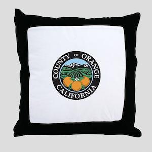 ORANGE-COUNTY Throw Pillow