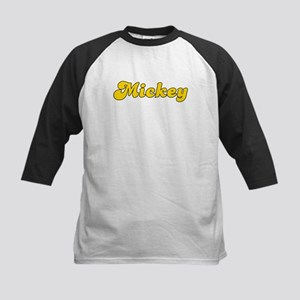 Retro Mickey (Gold) Kids Baseball Jersey