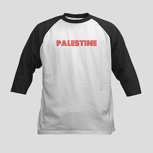 Retro Palestine (Red) Kids Baseball Jersey