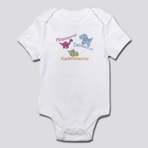 Mom, Dad, & Kadenosaurus Infant Bodysuit