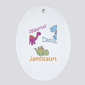 Mom, Dad, & Liamosaurus Oval Ornament