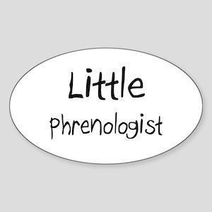 Little Phrenologist Oval Sticker