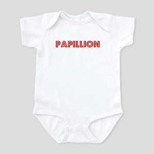 Retro Papillion (Red) Infant Bodysuit