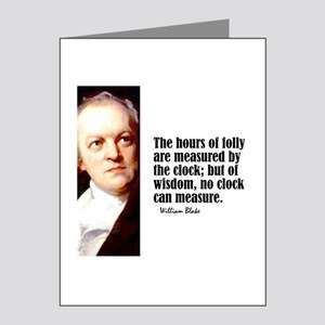 """Blake """"Hours of Folly"""" Note Cards (Pk of 10)"""