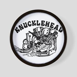 American Biker Knucklehead Wall Clock