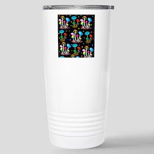 Rainbow Of Mushro 16 oz Stainless Steel Travel Mug