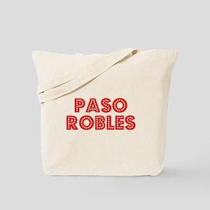 Retro Paso Robles (Red) Tote Bag