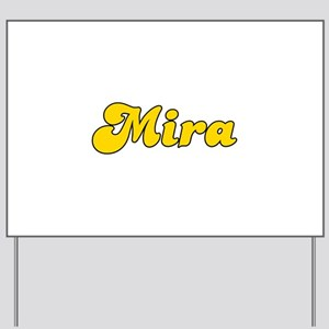 Retro Mira (Gold) Yard Sign