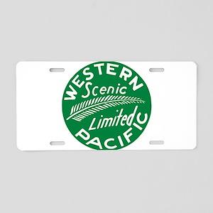 Western Pacific Scenic Limi Aluminum License Plate