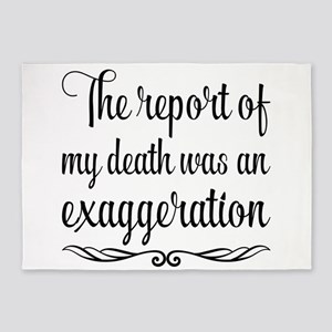 The report of my death was an exagg 5'x7'Area Rug