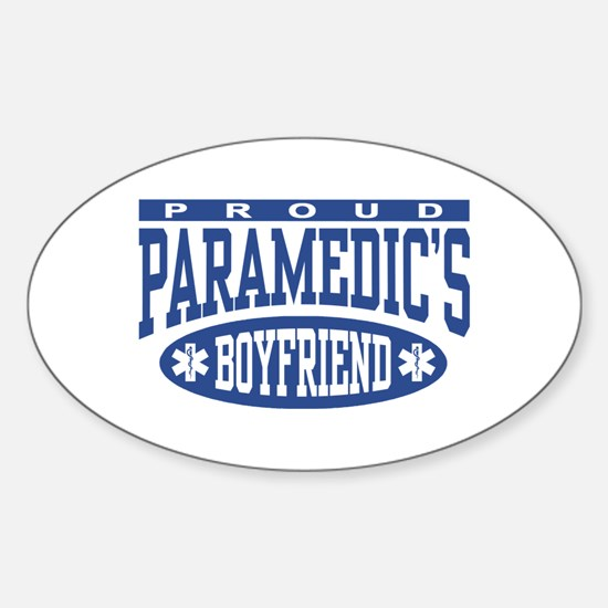 Proud Paramedic's Boyfriend Oval Decal