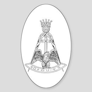 Scottish Rite 18dgr Oval Sticker