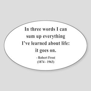 Robert Frost 15 Oval Sticker