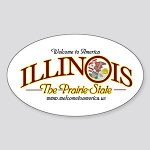 Illinois Oval Sticker