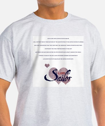 sailor's spouse creed Ash Grey T-Shirt