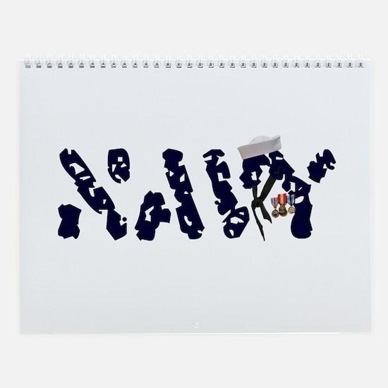 Navy Wall Calendar