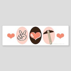 Peace Love Architect Bumper Sticker
