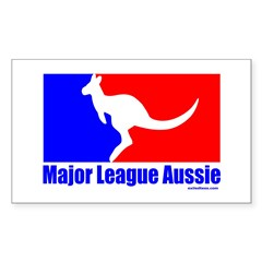 MAJOR LEAGUE AUSSIE Rectangle Decal