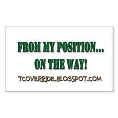 From My Position Rectangle Sticker 10 pk)