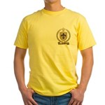 BONNET Family Crest Yellow T-Shirt