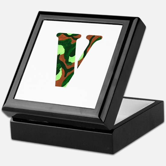 The Letter 'V' Keepsake Box