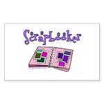 Scrapbooker Scrapper Memory B Sticker (Rectangular