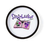 Scrapbooker Scrapper Memory B Wall Clock