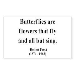 Robert Frost 10 Rectangle Decal