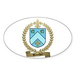 BOUCHER Family Crest Oval Sticker