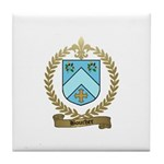 BOUCHER Family Crest Tile Coaster