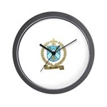 BOUCHER Family Crest Wall Clock