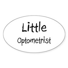 Little Optometrist Oval Sticker