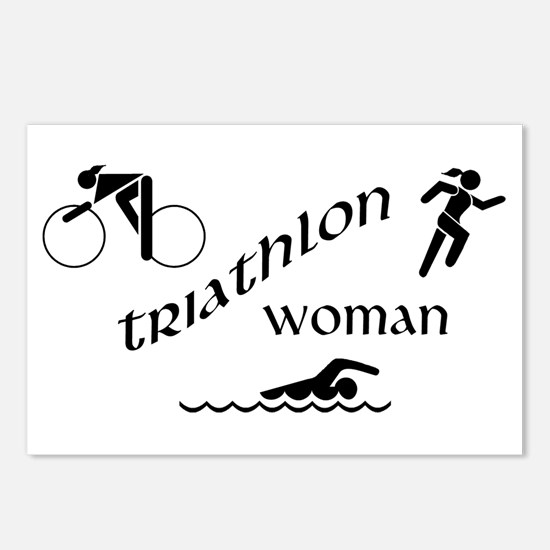 Triathlon Woman Postcards (Package of 8)