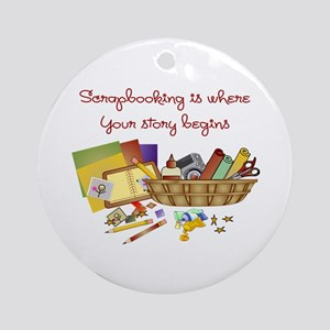 Scrapbooking Ornament (Round)