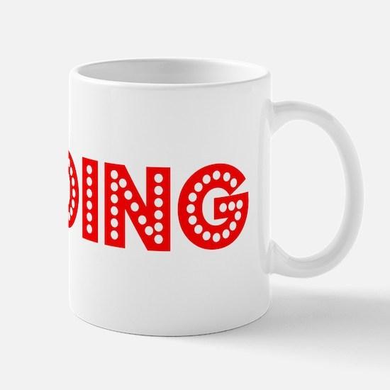 Retro Reading (Red) Mug