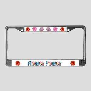 Flower Power License Plate Frame