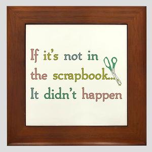 Scrapbooking Facts Framed Tile