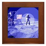 Blue Moon Framed Tile