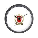 BOURBEAU Family Crest Wall Clock