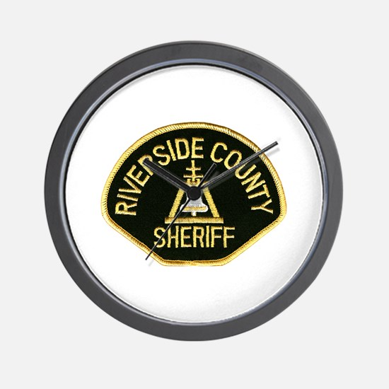 Riverside Sheriff Wall Clock