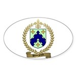 BOURGEOIS Family Crest Oval Sticker